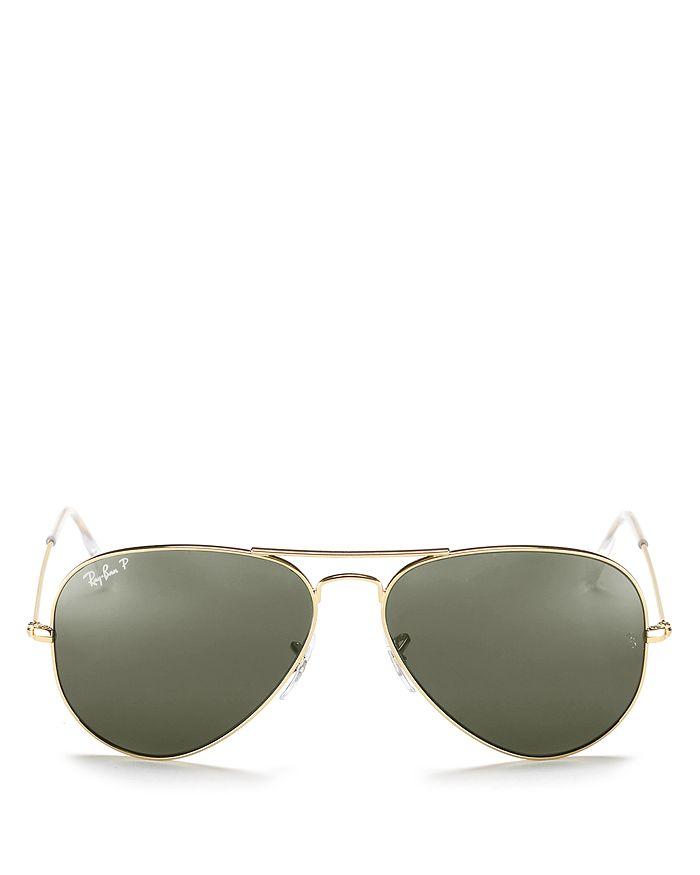 Ray-Ban - Unisex Classic Polarized Brow Bar Aviator Sunglasses