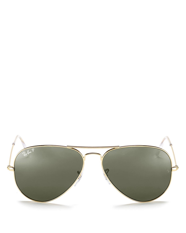 Ray-Ban Polarized Classic Aviator Sunglasses, 62mm | Bloomingdale\'s