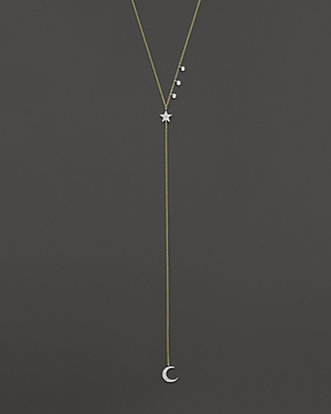 Meira T 14K Yellow Gold Star & Moon Lariat Necklace with Diamonds, 18 - 100% Exclusive
