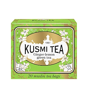 Kusmi Tea Ginger-Lemon Green Tea Bags