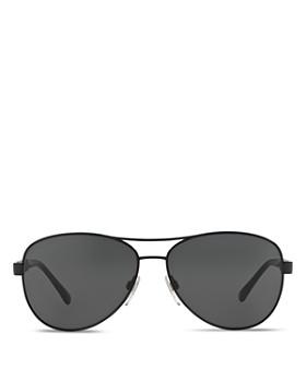 Burberry - Men's Honey Check Aviator Sunglasses, 59mm