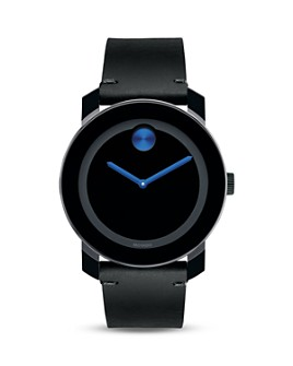 Movado - Movado BOLD Large Black TR90 and Stainless Steel Watch, 42mm