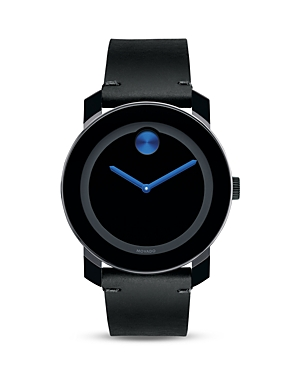 Movado Bold Large Black TR90 and Stainless Steel Watch, 42mm-Jewelry & Accessories