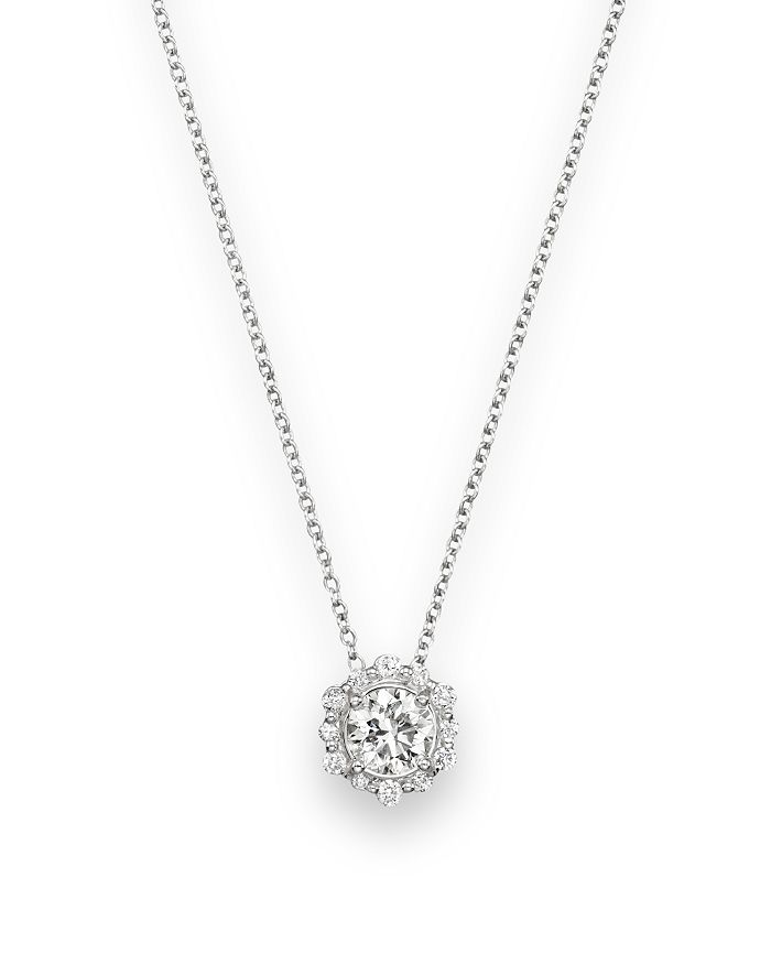 Bloomingdale's - Diamond Pendant Necklace in 14K White Gold, .50 ct. t.w.- 100% Exclusive