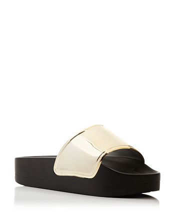 a5619e85deec Jeffrey Campbell - Follow Me Metallic Jelly Slide Sandals