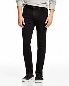 PAIGE - Transcend Lennox Super Slim Fit Jeans in Black