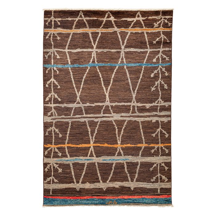 """Solo Rugs - Moroccan Collection Oriental Rug, 5'10"""" x 9'2"""""""