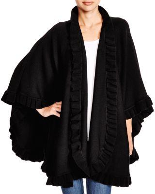 LANE D'OLIMPIA Lane D'Olimpia Ruffle Wrap Scarf - 100% Exclusive in Black