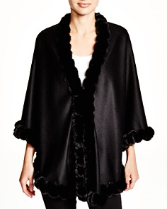 Maximilian Cashmere Cape with Mink Trim - 100% Exclusive - Bloomingdale's_0