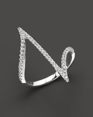 Diamond Statement Ring in 14K White Gold, .25 ct. t.w.