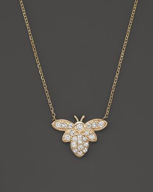 Kc Designs Diamond Bumble Bee Pendant Necklace in 14K Yellow Gold, 16