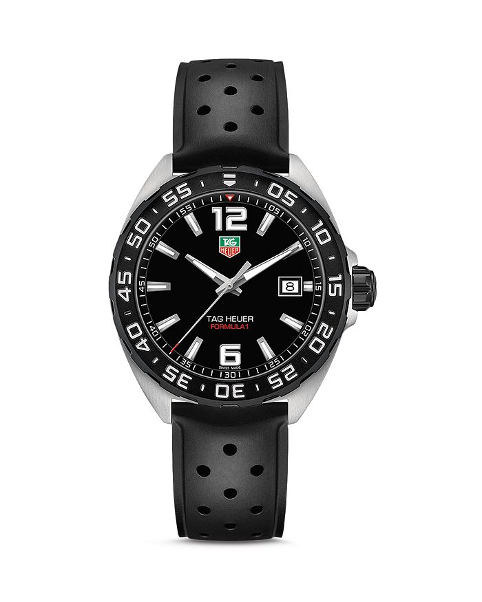 TAG Heuer - Formula 1 Quartz Men's Black Rubber Watch, 41mm