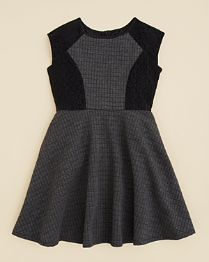 Blush by Us Angels Girls' Quilted Double Knit Dress - Big Kid