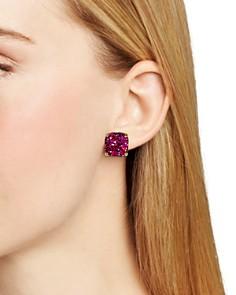 kate spade new york - Small Square Glitter Stud Earrings