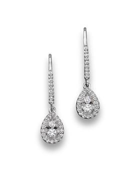 Bloomingdale S Diamond Drop Earrings In 14k White Gold 50 Ct