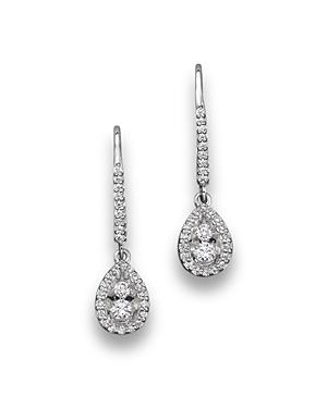 Diamond Drop Earrings in 14K White Gold, .50 ct. t.w. - 100% Exclusive