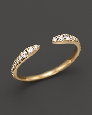 Diamond Open Ring in 14K Yellow Gold, .35 ct. t.w. - 100% Exclusive