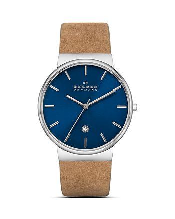 Skagen - Ancher Leather Strap Watch, 40mm