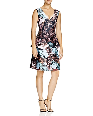 Clover Canyon Floral Sunset Peplum Dress
