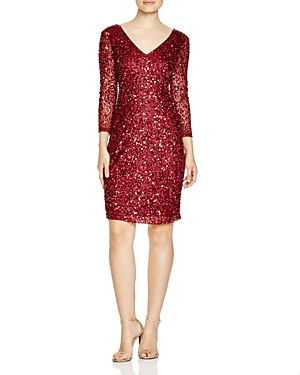 Js Collections Three-Quarter Sleeve Sequin Dress