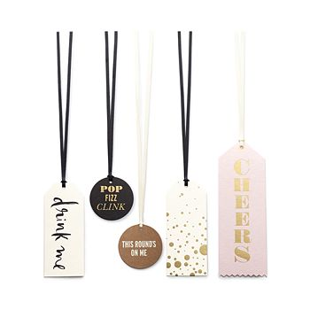 "kate spade new york - Assorted ""Cheers"" Wine Tag Set"
