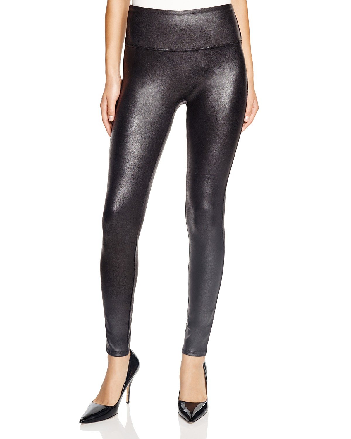 Faux Leather Leggings in Black. - size M (also in S,XS) Spanx