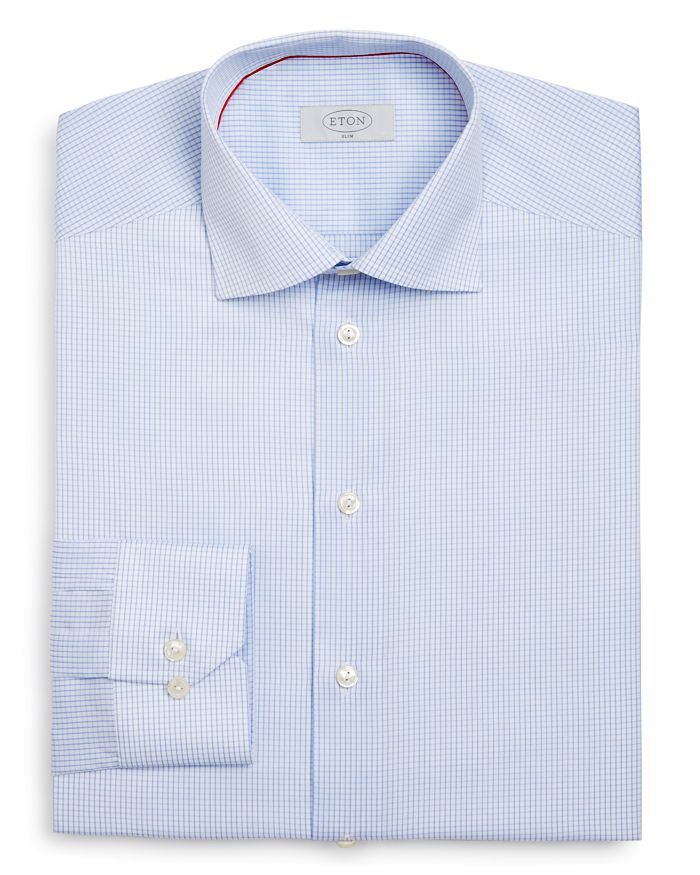 Eton - Grid Check Slim Fit Dress Shirt