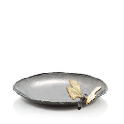 Butterfly Ginkgo Round Trinket Tray by Michael Aram