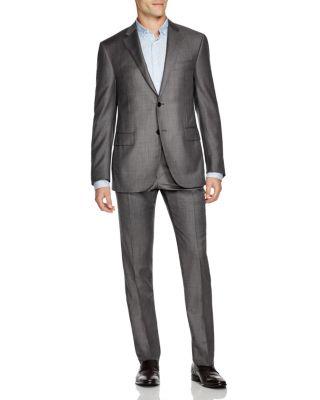 CORNELIANI Academy Regular Fit Sharkskin Suit in Grey