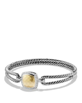 David Yurman Albion Bracelet with Diamonds and Gold    Bloomingdale's