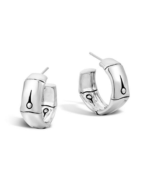 John Hardy - Bamboo Silver Medium Hoop Earrings
