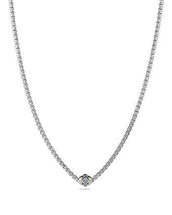 David Yurman - Renaissance Necklace with Blue Topaz, Lapiz Lazuli and 18K Gold