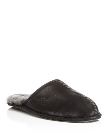 a566b072110 UGG® Men's Scuff Deco Leather Slippers | Bloomingdale's