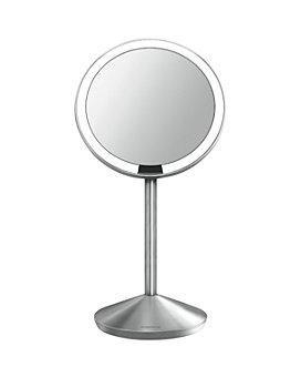 "simplehuman - Mini Sensor Makeup Mirror with Travel Case, 5"", 10x Magnification"