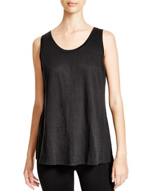 Eileen Fisher Petites System Scoop Neck Long Tank