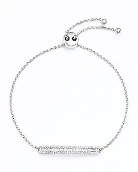 Bloomingdale's - Diamond and Baguette Bar Bolo Bracelet in 14K White Gold, .50 ct. t.w.- 100% Exclusive