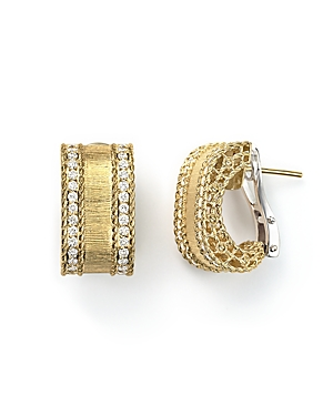 Roberto Coin 18K Yellow Gold Diamond Satin Princess Earrings