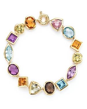 Gemstone Bracelet in 14K Yellow Gold - 100% Exclusive