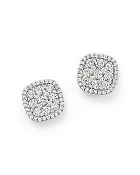 Bloomingdale's - Diamond Cluster Earrings in 14K White Gold, 1.0 ct. t.w.- 100% Exclusive