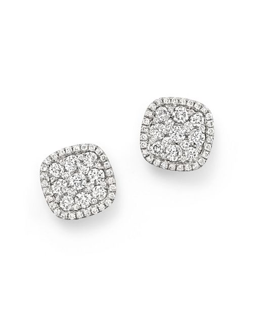 Bloomingdale's - Diamond Cluster Earrings in 14K White Gold, 1.0 ct. t.w. - 100% Exclusive