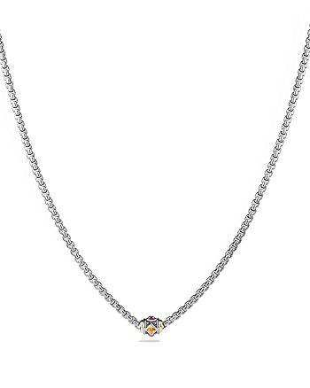 David Yurman - Renaissance Necklace with Citrine, Rhodalite Garnet and 18K Gold