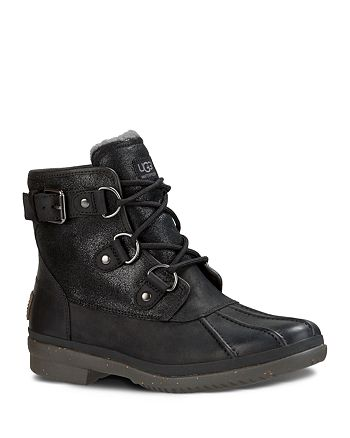 21e613fffba UGG® Cecile Lace Up Duck Booties | Bloomingdale's