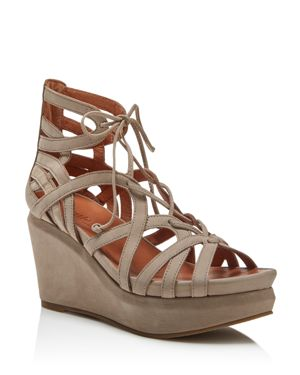 Gentle Souls Joy Lace Up Wedge Sandals