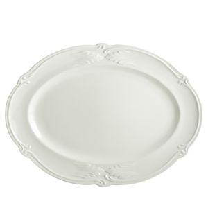 Gien France Rocaille White Oval Platter