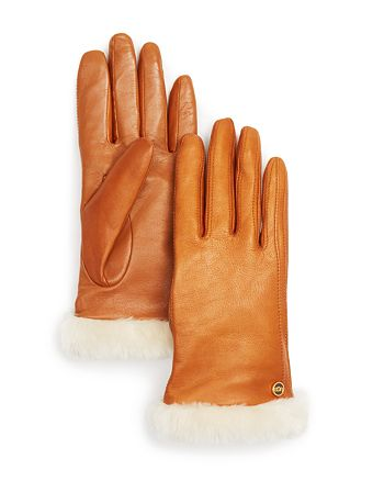 87c26c51054 UGG® Australia Classic Leather Tech Gloves | Bloomingdale's