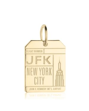 JFK NEW YORK LUGGAGE TAG CHARM