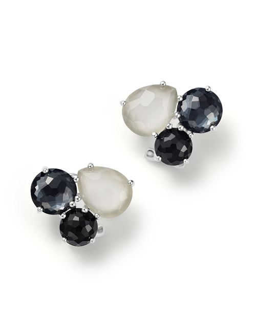 IPPOLITA - Sterling Silver Rock Candy® Cluster Stud Earrings in Black Tie