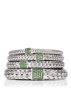 John Hardy Classic Chain Sterling Silver Lava Bracelet with Tsavorite - Bloomingdale's_0