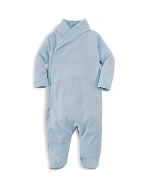 Ralph Lauren Childrenswear Boys Shawl Collar Footie  Baby