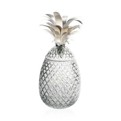"""Isadora Silver"" Pineapple Centerpiece, 11"""